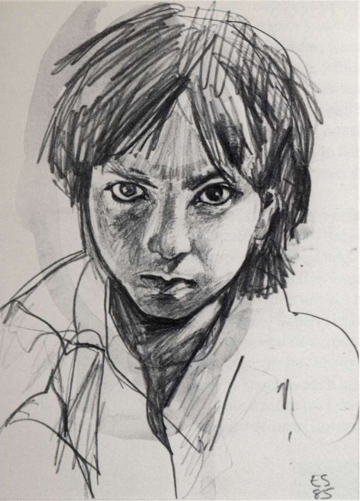 Image No: Afghan girl - pencil sketch 1985