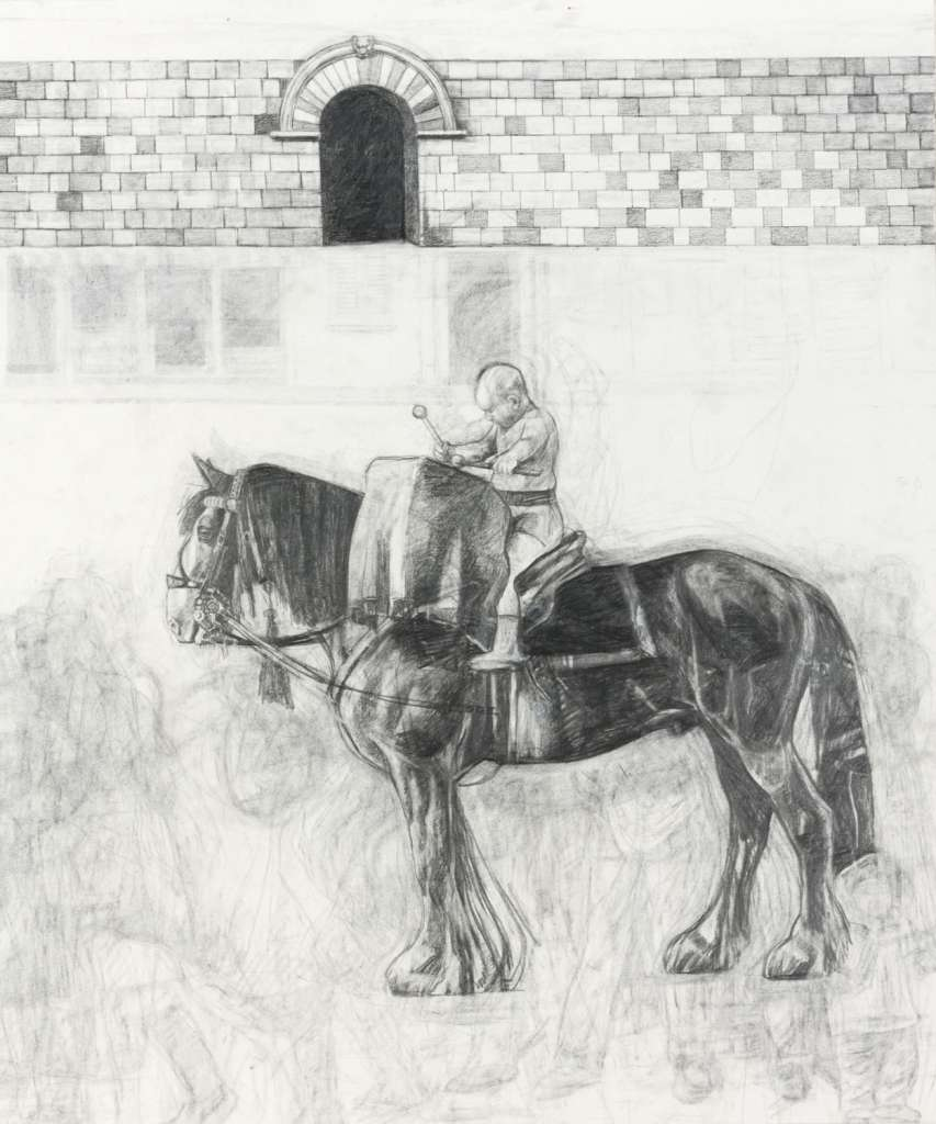Procession 2005. Pencil on paper 24 x 20 1/4 inches (61 x 51.5 cm)